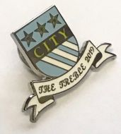 City Shield Treble Pin Badge
