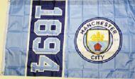 Manchester City Flag New Crest