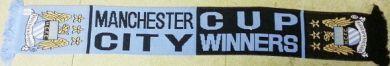 Man City Cup Winners scarf