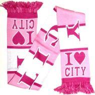 I Love City Pink Scarf