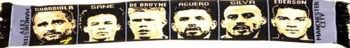 Manchester City Player & Manager scarf