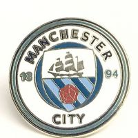 Manchester City Football Crested Badge Pin