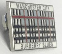 Manchester City Burberry  Blues Pin Badge