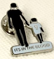 Manchester City Its In The Blood Pin Badge